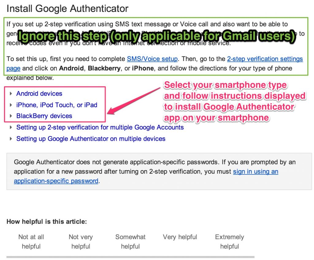 Install Google Authenticator app in your mobile device