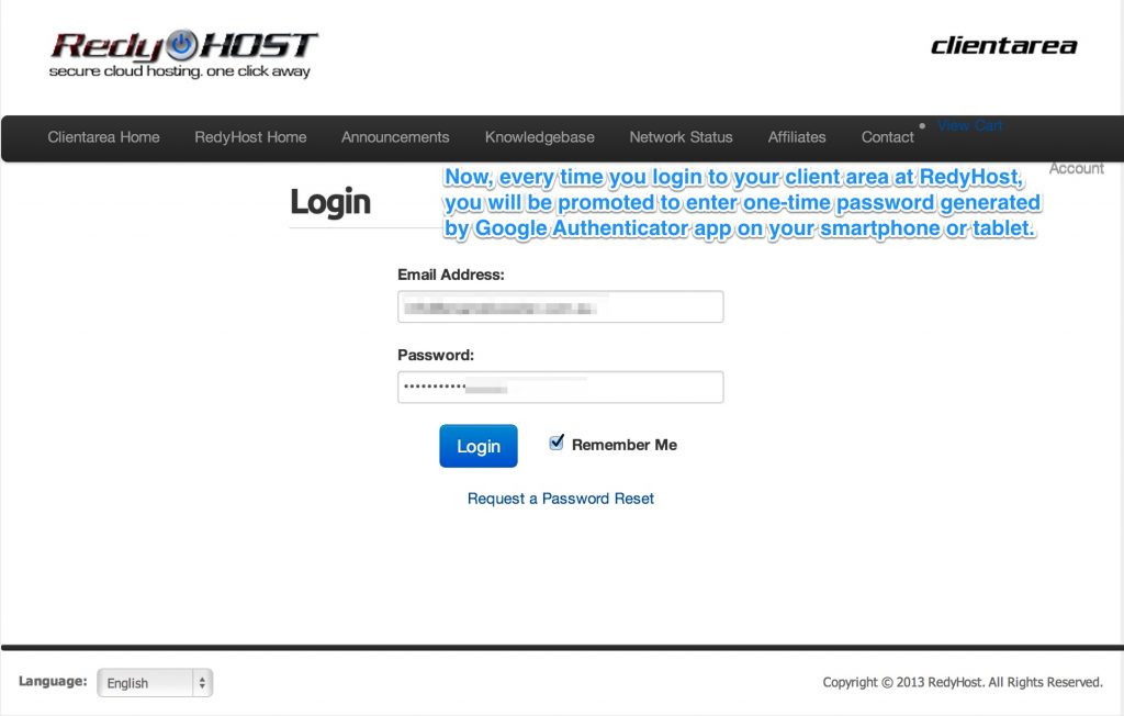 Now you could test your 2-factor authentication setup